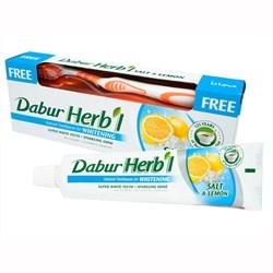 Зубная паста Dabur Herb'l Salt & Lemon (с зубной щёткой) - фото 4005
