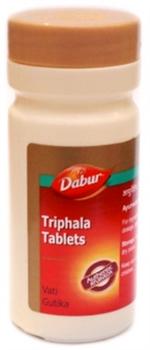 Triphala tablets Dabur (Трифала таблетки Дабур) 60 таб. - очищение от токсинов, баланс дош - фото 5907