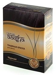 Чёрная травяная краска для волос ААША - фото 6258