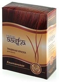 Каштановая травяная краска для волос - фото 6259