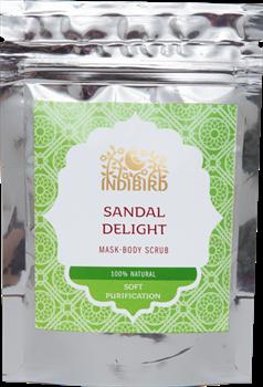 """Индийская травяная смесь для тела """"Сандаловое наслаждение"""" (Снана Чурна) - фото 7170"""