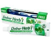 Зубная паста Dabur Herb'l Basil (с зубной щёткой)