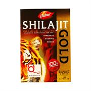 Shilajit Gold Dabur (Шиладжит Голд) - мумиё с золотом и шафраном, 10 кап