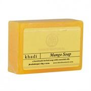 Глицериновое мыло ручной работы KHADI с манго