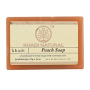 Глицериновое мыло ручной работы KHADI персик