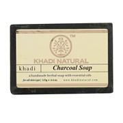 Глицериновое мыло ручной работы KHADI с бамбуковым углем