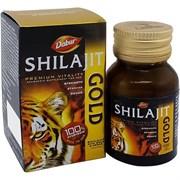 Shilajit Gold Dabur (Шиладжит Голд) - мумиё с золотом и шафраном, 20 кап