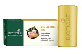Мыло для тела с маслом миндаля Biotique - питание и защита