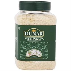 Рис индийский длиннозерный шлифованный в банке (Indian Basmati Elonga Rice Dunar), 1кг. - фото 10120