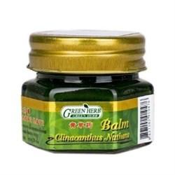 Антисептический зеленый бальзам  Green Herb с клинакантунсом нутансом, 20 г. - фото 10125