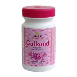 Gulkand, джем из вяленых лепестков роз (Гулканд), охлаждающий и тонизирующий, 400 г. - фото 10146