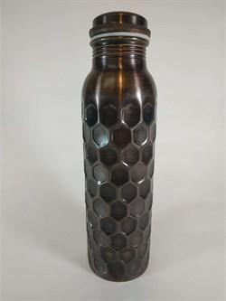 Медная бутылка-термос с рельефом, 800 мл. - фото 10186