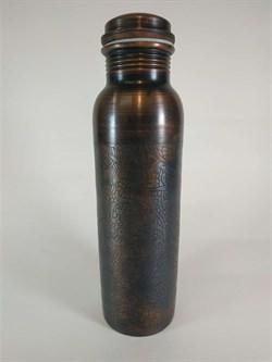 Медная бутылка-термос с рисунком, 800 мл. - фото 10188