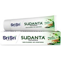 Травяная зубная паста Sudanta, БЕЗ фтора (Суданта), 50 г. - фото 10190