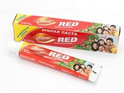Аюрведическая зубная паста Dabur Red (Дабур красная), защита зубов и десен 200 г. - фото 10238