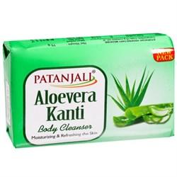 Аюрведическое мыло для тела Aloevera Kanti Body Cleanser (с алоэ вера), бережно очищает и освежает кожу. - фото 10286