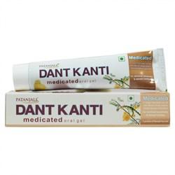 Лечебный травяной гель Patanjali Dant Kanti Medicated - снижение чувствительности зубов. - фото 10287