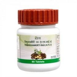Tribhuvan Kirti Ras, 80 таб. - эффективен при ОРЗ и простуде - фото 10322