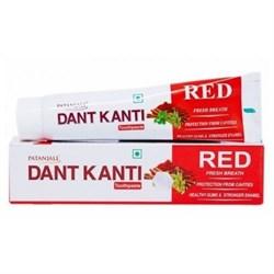 Red Toothpaste Dant Kanti (20g) - защита от кариеса и свежее дыхание, 20 г. - фото 10361