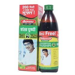 Shankhapushpi syrup (Шанкхапушпи сироп) - помогает улучшить концентрацию - фото 10390