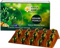 Brahmi Pearls (Брами Перлс Жемчуг)- мозговой тоник, улучшает внимание и память, 40 кап - фото 10543