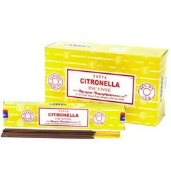 Благовония Сitronella (Цитронелла Сатья), 15 г. - фото 10566
