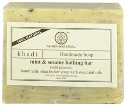 Мыло ручной работы Mint & sesame (с мятой и кунжутом) - фото 10855