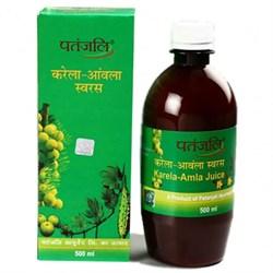 Karela Amla Juice (Сок Карела Амла) - целительный эликсир для страдающих диабетом, 500 мл. - фото 11083