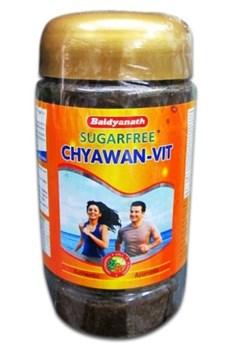 CHYAWAN-VIT Baidyanath - диабетический чаванпраш с миндалём и ашвагандхой (без сахара) - фото 6452