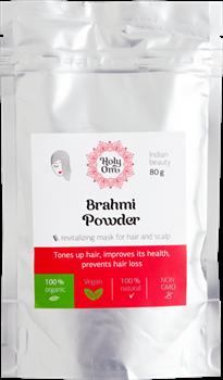 Brahmi churna (порошок Брами), 80 гр. - оживляет волосы, предотвращает возрастные изменения и выпадение волос - фото 6982