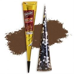 Хна для мехенди светло-коричневая, в конусе из фольги - фото 7248