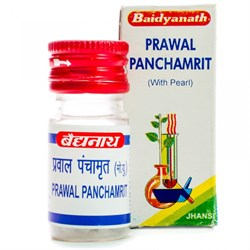 Prawal Panchamrit (Правал Панчамрит таб) - аюрведический препарат на основе жемчуга для пищеварительной системы - фото 7492