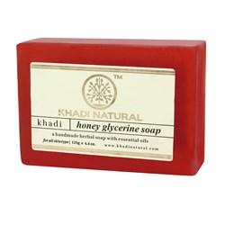 Глицериновое мыло ручной работы KHADI с мёдом - фото 7659
