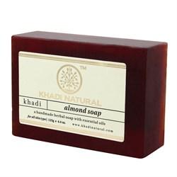 Глицериновое мыло ручной работы KHADI с миндалём - фото 7666