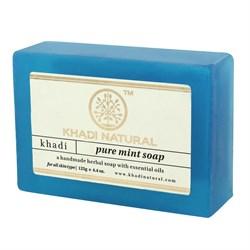 Глицериновое мыло ручной работы KHADI с мятой - фото 7667