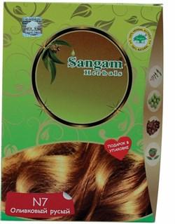 """Натуральная краска для волос """"Оливковый русый"""" (светло-коричневый) - фото 7887"""