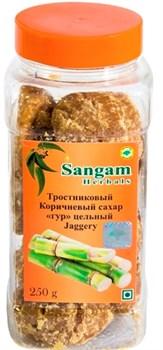 Сахар Гур тростниковый цельный, 250 гр - фото 7899