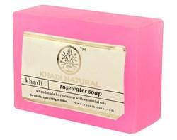Глицериновое мыло ручной работы KHADI с розой - фото 7934