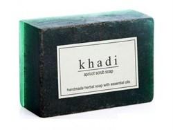 Глицериновое мыло ручной работы KHADI с абрикосовыми косточками - фото 7935