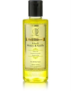 Шампунь Мёд и Ваниль  -  для нормальных и сухих волос, увлажнение, питание, укрепление корней, 210 мл - фото 8075