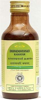 Dhanadanayanadi Kashayam (Дханаданаянади Кашаям) 200 мл - при неврологических заболеваниях - фото 8736