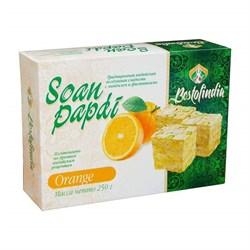 Соан Папди апельсин ( Soan papdi orange ) 250 гр - воздушная сладость с миндалём и фисташками - фото 8819