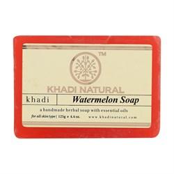 Глицериновое мыло ручной работы KHADI с арбузом - фото 9024