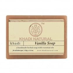Глицериновое мыло ручной работы KHADI с ванилью - фото 9026