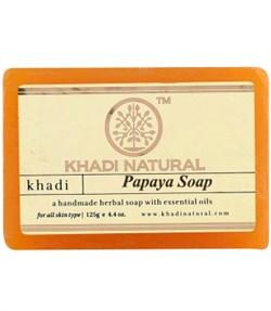Глицериновое мыло ручной работы KHADI с папаей - фото 9034