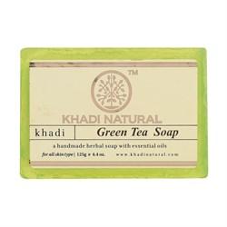 Глицериновое мыло ручной работы KHADI зелёный чай - фото 9041