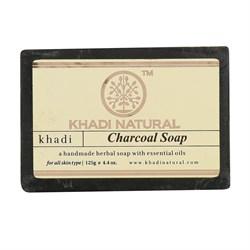 Глицериновое мыло ручной работы KHADI с бамбуковым углем - фото 9049