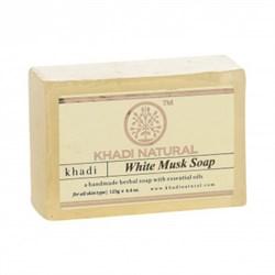 Глицериновое мыло ручной работы KHADI с белым мускусом - фото 9051