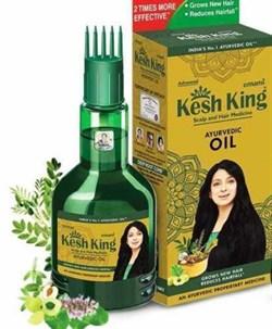 Аюрведическое масло для поврежденных волос Кеш Кинг (Kesh King Scalp and Hair Medicinal Ayurvedic Oil ), 100мл - фото 9140