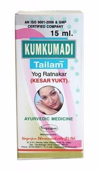 "Масло для лица с шафраном ""Кумкумади"" (Kumkumadi tailam), 15 мл - фото 9153"